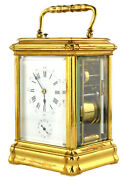 Antique Grand Sonnerie French Carriage Clock With Original Caserepeater Alarm