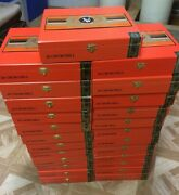 25 Victor Sinclair 20 Churchill Wooden Cigar Boxes With Clasp - Beautiful Cond