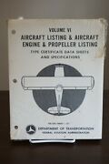 Type Certificate Data Sheet Aircraft Engine And Propeller Listings January 1977