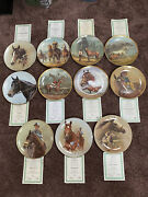 Fred Stone Horse Racing Rare Collectible Plate Lot Count Of 11 See Description