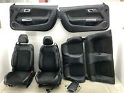 2015 - 2017 Ford Mustang Gt California Special Conv Seat Set Suede Blk Leather