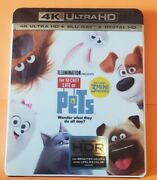 The Secret Life Of Pets 4k Ultra Hd Blu-ray 2016 W/slipcover New/factory Seal