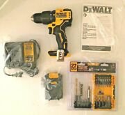 New Dewalt Dc709 Cordless Drill W Battery, Charger, Manual And 27 Pc Accessory Kit