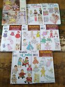 Lot Baby Doll Clothes Sewing Pattern Simplicity Vogue Vintage 12 14 16 18 20 22