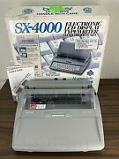 Brother Sx-4000 Daisywheel Electronic Lcd Digital Display Typewriter - Tested