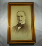 Fabulous And Oversized Imperial Portrait Signed By Union General William T Sherman