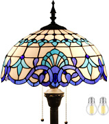 Floor Lamp Light Led Style Stained Glass Office Room Reading 64 Tall