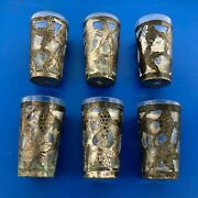 Vintage Taxco Mexico 925 Sterling Silver Apertif Shot Glass Set Of 6 W/stirrers