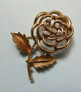 Fab Sarah Coventry Signed Gold Tone Flower Brooch