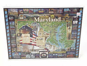 Historic Maryland 1000 Piece Puzzle White Mountain Puzzles 1995 New Sealed