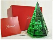 400 Baccarat Courchevel Green Crystal Christmas Fir Tree Mint With Box Figurine