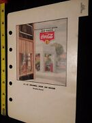 1940s Coca-cola Salesman Advertising Old Town Tavern Coke Sea Foods Sign Page