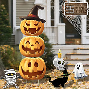 Tanvir 35 Halloween Yard Sign With Stakes 7 Pcs Halloween Decorations Outdoor