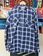 Dixxon Flannel Small The Riot Shirt Mens S Black And Blue
