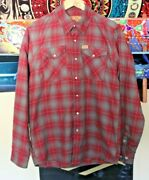 Dixxon Flannel Small Saar Loos And Sons Aka Wino Shirt Mens S Grey And Red