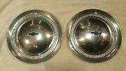 2 Two 1953 Chevy Hubcaps Belair 150 210 Hub Caps Wheel Covers User Condition