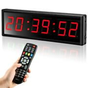 Seesii 2.3 Inch Emom Programmable Digital Led Interval Timer For Gym Office Home