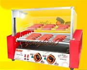 New Temperature Control Commercial 7 Roller Hot Dog Grill Cooker Machine 220v