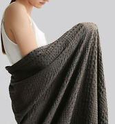 Natural Union 100 Cotton Waffle Weave Blanket Queen Size 90x90 Inches