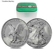 Milky - Roll Of 20 - 2021 1 Oz Silver American Eagle 1 Coin Type 2 Scruffy