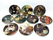 Vintage Set 10 Knowles Norman Rockwell Heritage Collection Decorative Plates