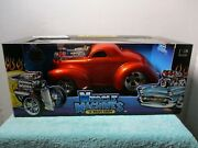 1/18 Scale Muscle Machines Orange And03941 Willys Coupe