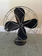 Vintage 1950 Emerson 79648-ap-g Oscillating Cast Iron Fan Needs New Cord Parts
