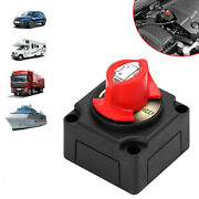 1pcs Battery Isolator Disconnect Switch Power Cut Off/on For Marine Boat 12v-48v