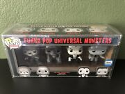 Universal Monsters Black And White 4 Pack Vaulted Rare Funko Pop Gemini Exclusive