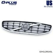 Fit For Volvo 2011-2013 S60 4-door Front Upper Grille Grill Chrome 30795039