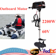 2.2kw Brushless Electric Outboard Trolling Motor Fishing Boat Engine 60v New