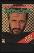 The Beatles Ringo Starr Signed Rolling Stone Magazine Cover Todd Mueller Coa