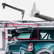 For Mini Cooper S R56 Frp Unpainted +carbon Fiber Blade Rear Roof Spoiler Wing