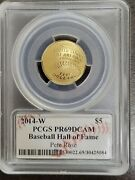2014 Pcgs Pr69dcam 2014 Baseball Hall Of Fame 5 Gold Coin Pete Rose Signed