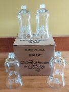 Set Of 4 In Box Home Interior Etched Glass Hummingbird Votive Cups Candleholders