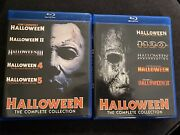Halloween Blu-ray 1,2,3,4,5,6,7,8 Collection Lot - Michael Myers Horror Rare Oop