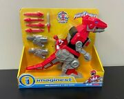 Fisher Price Imaginext Mighty Morphin Power Rangers Red Ranger And T-rex Zord