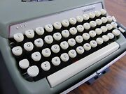Vintage Smith-corona Sterling Portable Typewriter Great Working Condition
