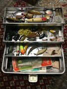 Vintage Umco Tackle Box And Lures Model 103a Loaded