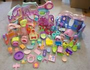 Hasbro Littlest Pet Shop Large Lot 3 Play Houses Get Better Center And Accessories