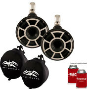 Wet Sounds Rev 8 Swivel Clamp Tower Speakers With Wet Sounds Suitz Covers Black