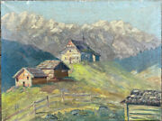 Ludwig From Andok 1890 Budapest° Oil Painting Alps Huts Alm Band Signed