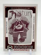 13-14 Upper Deck The Cup Nathan Mackinnon 1/1 Rookie Masterpieces Printing Plate