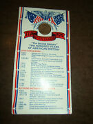 1976 Bicentennial Lincoln Penny Card - 200 Two Hundred Years Of American History