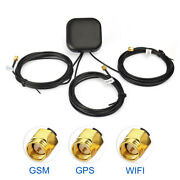Multi-band Antenna Gps+wifi+gsm Antenna Sma Plug Male Connector With 3m Cable