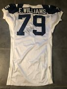 Dallas Cowboys Erik Williams Game Issued 1994 Throwback Apex Jersey Autographed