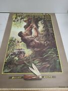 Remington Bullet Knife Poster Trapper Out On A Limb Larry W Dukeandnbsp1988 Willys