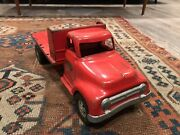 1955 Tonka Pressed Steel Red Ford Pickup With Interchangeable Bed Stake