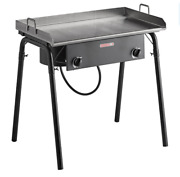 32 Double Burner Outdoor Range With 30 Stainless Steel Griddle Plate Durable
