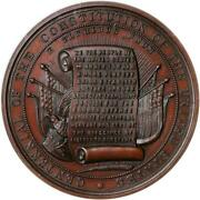 1887-dated Centennial Of The Constitution / Ngc Ms-65 Bn
